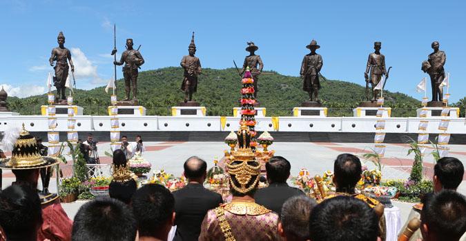 Crown Prince opens Rajabhakti Park in Hua Hin 2015,Crown Prince Thailand,Rajabhakti Park Opening times,Hua Hin vacation tours 2015