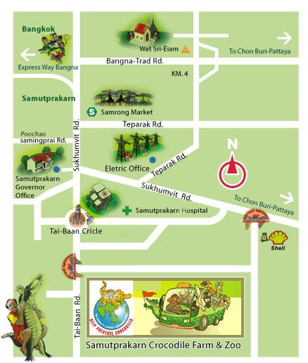 Route to Samut Prakarn Crocodile Farm & Zoo in Bangkok,Samut Prakarn Crocodile Farm & Zoo traffic in Bangkok,Samut Prakarn Crocodile Farm & Zoo transfer in Bangkok, Samut Prakarn Crocodile Farm & Zoo ,top 10 things to do in Bangkok , Bangkok, how to Samut Prakarn Crocodile Farm & Zoo, Samut Prakarn Crocodile Farm & Zoo map