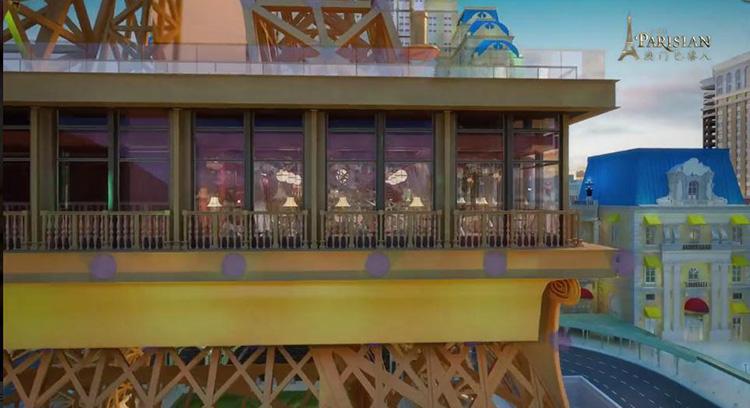 Macau Eiffel Tower, Macau restaurant, french dishes, frech restaurant, eating in tower, good view restaurant,macau parisian restaurant,french public house,frech buffet