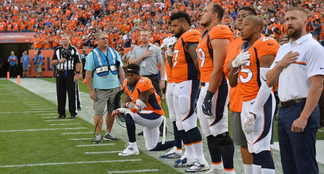 NFL Sport News,Brandon Marshall protests against US anthem as Broncos beat Panthers