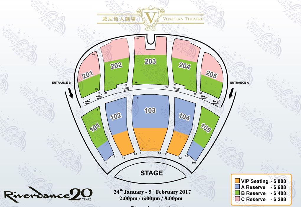 Riverdance – The 20th Anniversary World Tour - Macau E-ticket,Riverdance Venetian Macao Ticket Jan & Feb 2017,Riverdance Show Ticket 2017 Online Booking,Riverdance Venetian Macao Ticket,Riverdance Show in Macau Ticketing,Riverdance Macao Time 2017