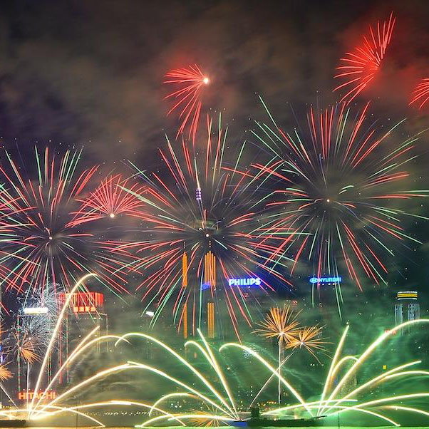 Fireworks Victoria Harbour Cruise on National's Day Hong Kong