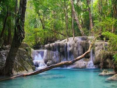 Erawan National Park, Kanchanaburi Province, Thailand (© Banana Republic Images/Shutterstock)