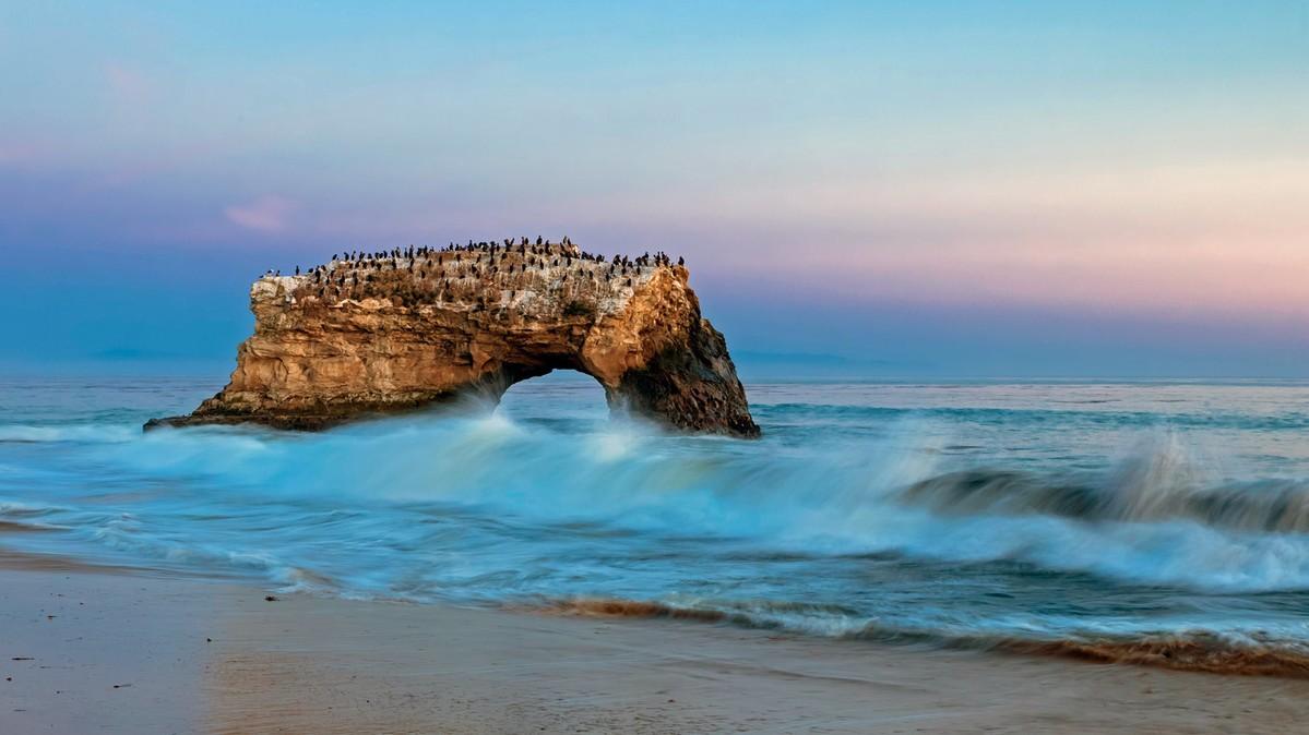 an analysis of the natural bridges state beach in santa cruz