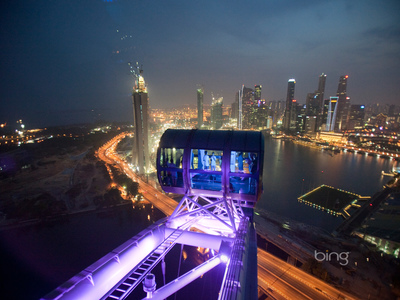 The Singapore Flyer, a 42-story-high observation wheel in Singapore (© David McLain/Aurora Photos)